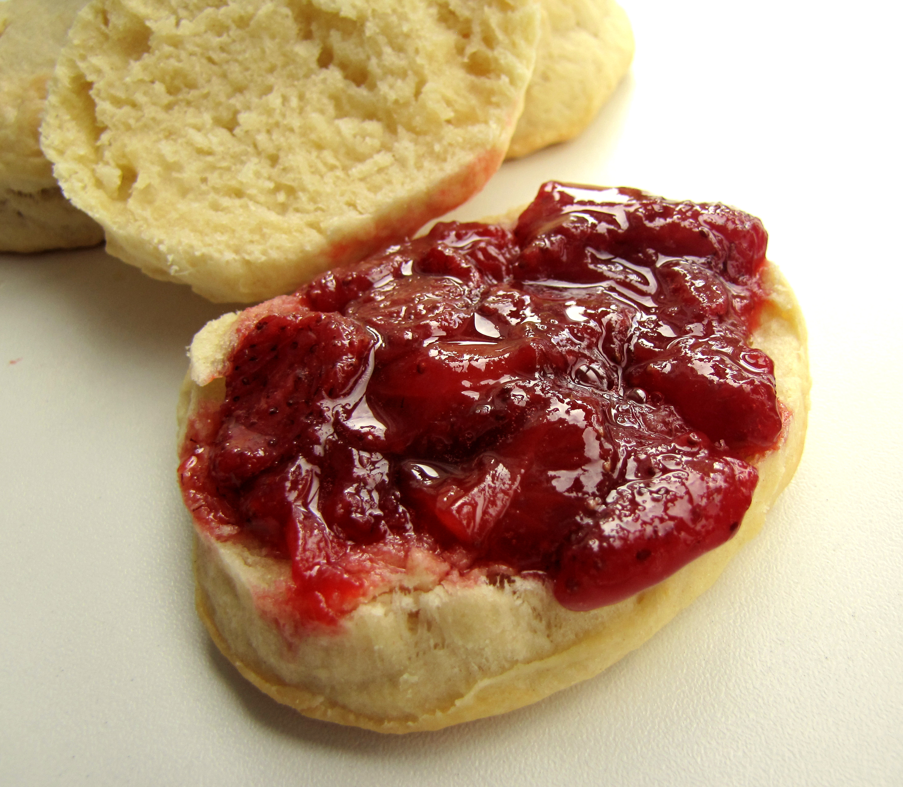Tea Biscuits with Fresh Strawberry Jam Recipe